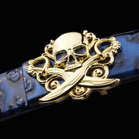 Skull Belts Mens Designer Fashion Popular Leather Belt Genuine High Quality Luxury Brand Young Men Personality