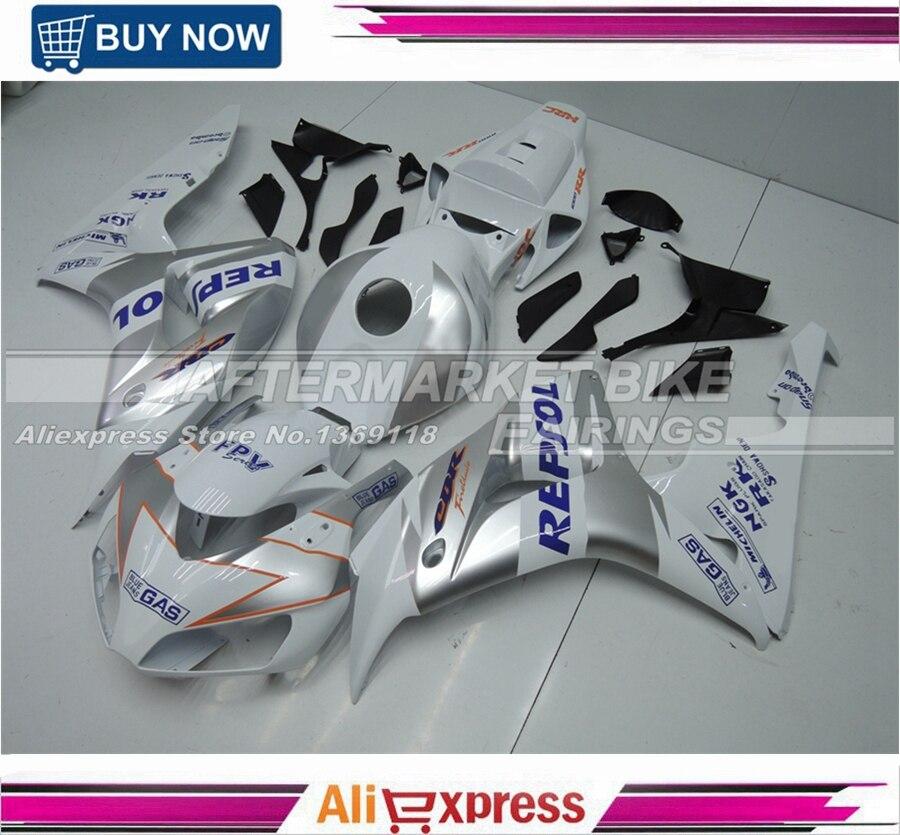 Royal Blue Repsol Customized ABS 100% Fit Guarantee CBR1000RR 2006 2007 Fairings Bodyworks For Honda Kits repsol 100