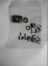 Wholesale 50pcs/lot Camera Lens Cover Glass Frame Ring Repair Part for Samsung Galaxy S3 Mini i8190 Free shipping