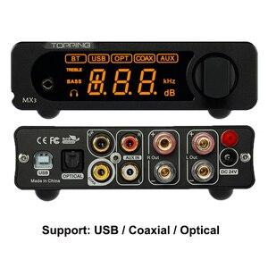 Image 4 - TOPPING MX3 USB DAC مضخم الصوت Hifi بلوتوث DAC أمبير PCM5102A مضخم رقمي بلوتوث مع مضخم ضوت سماعات الأذن الإخراج