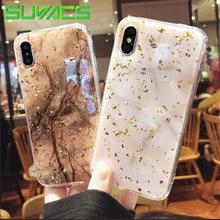 SUYACS Glossy Phone Case For iPhone 6 6S 7 8 Plus X Platinum Fashion Marble  Soft TPU Graphic Phone Cases Cover Shells Bag Fundas 7ce4b769b054
