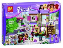 2016 New 10495 389Pcs Friend Heartlake Food Market Model Building Kits Minifigures Blocks Bricks Girl Toy Compatible Legoe
