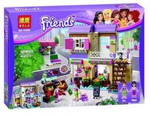 2016 New 10495 389Pcs Friend Heartlake Food Market Model Building Kits Minifigures Blocks Bricks Girl Toy