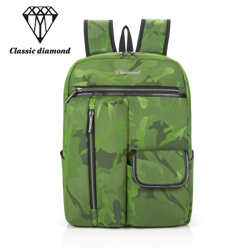 Unisex Nylon Army Green Camouflage Backpack Waterproof Men's Back Pack Multi-function Laptop Mochila Designer Women Backpacks multi function green