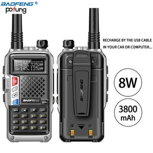 Image 2 - BAOFENG Walkie Talkie de 8W, banda Dual UHF/VHF, 10KM, largo alcance, batería gruesa, modo de carga múltiple, 2 uds., 2020