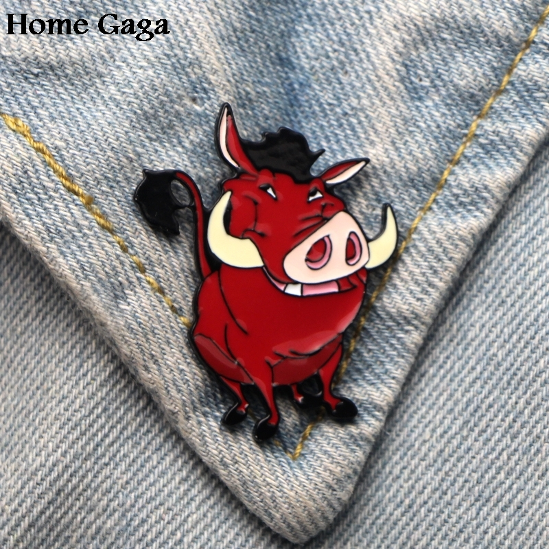2019 Latest Design 10pcs/lot Homegaga Lion Kings Mufasa Zinc Tie Cartoon Funny Pins Backpack Clothes Brooches For Men Women Hat Badges Medal D1842 Utmost In Convenience Home & Garden