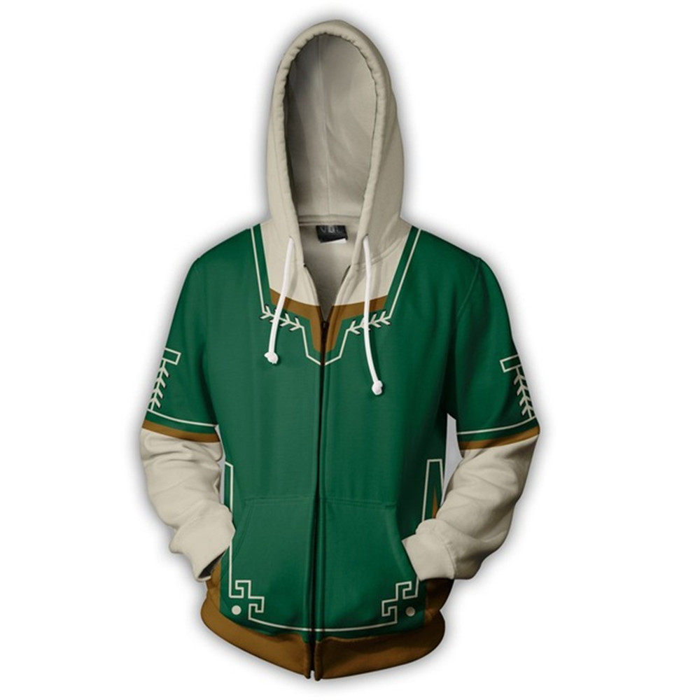 The Legend of Zelda Costume END Sweatshirts Cosplay Autumn Men European and American 3D Printing zipper Jacket Hooded sweater