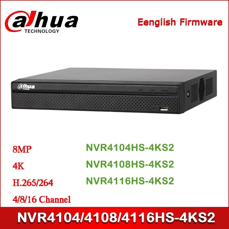 Dahua NVR4104//4108//4116HS-4KS2 4//8//16 Channel 1U 4K H.265 Lite NVR w//o PoE Port
