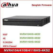 Dahua NVR4104HS-4KS2 NVR4108HS-4KS2 NVR4116HS-4KS2 4/8/16 canal compacto 1U 4K y H.265 Lite grabador de vídeo en red