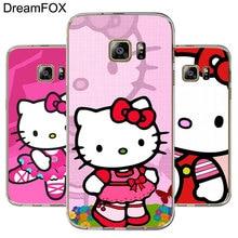 5a3b4a6def7 DREAMFOX M183 dibujos animados Hello Kitty suave TPU funda de silicona para Samsung  Galaxy Note S 3 4 5 6 7 8 9 Edge Plus Grand .