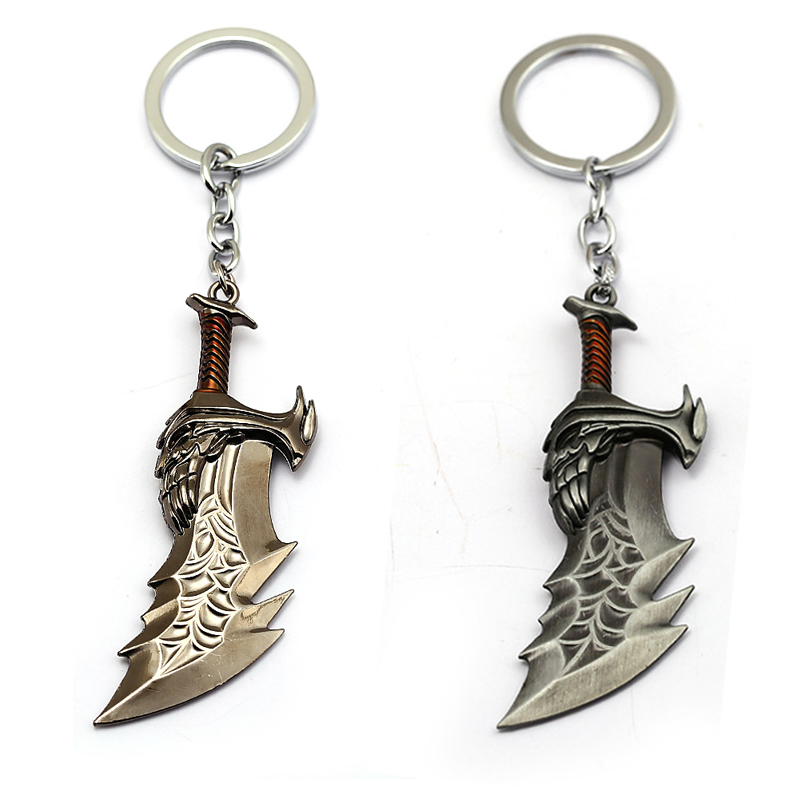 New Game God Of War 4 Kratos Weapon Keychain Blades of Chaos Key Chain Ring Metal For Men Car Fans Toy llavero Chaveiro Jewelry image
