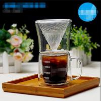 Hot Selling Newest Hand made Coffee Pot Set Glass Coffee Filter Paper Set Kitchen Accessories Reusable Coffee Filters
