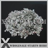 3mm Round Flat Loose Sequin Paillette For Shoe Bag Clothing Silver Metallic Bulk Wholesale