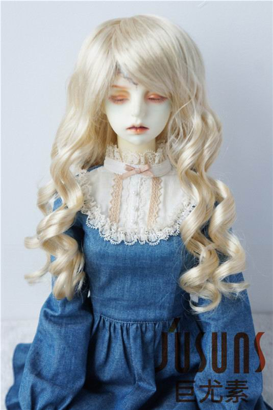JD224 1/3 Fashion curly BJD Doll wigs  SD Lady Sauvage size 8-9 inch syntheic mohair wig on sale bjd wigs double braided jerryberry multicolor faux mohair sd doll 1 3 1 4 1 6 1 8