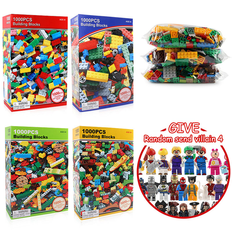 Chengke Toy 1000PCS Four Upgrades DIY Rainbow Building Particle Blocks Children Assembled Puzzle Toy and Education Practice Gift triangle ru bun lock children puzzle toy building blocks