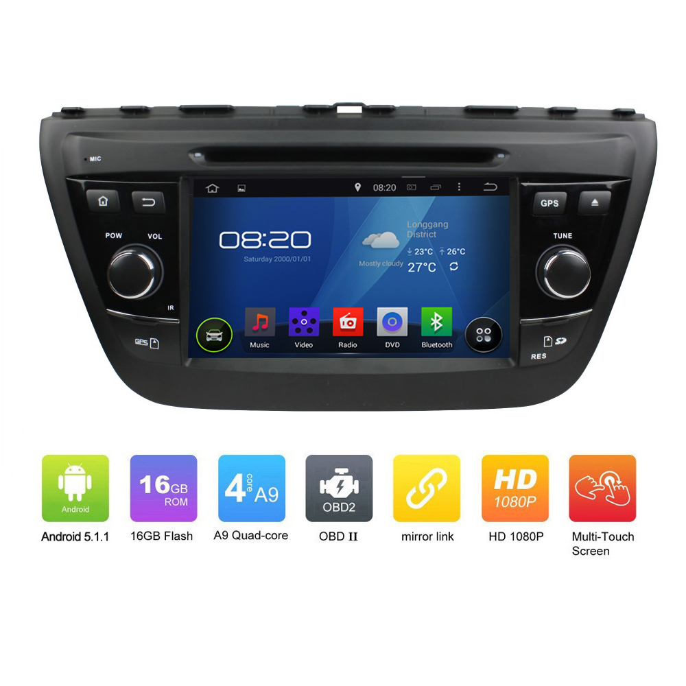 7 Inch New Car Electronic Auto Radio Audio 2 Din Android 5