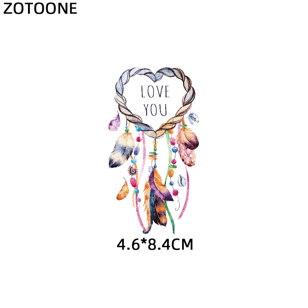 ZOTOONE Girls Angel Patches Dreamcatcher Sticker Iron on Transfers for Clothes T shirt Heat Transfer DIY Accessory Appliques F1 in Patches from Home Garden