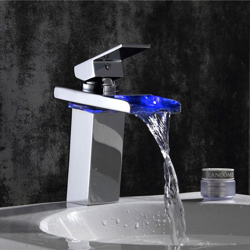 Xogolo Temperature Controlled Faucet Fashion Led Light For Tap Water Basin Mixer Wholesale And Retail Bathroom Faucet 3 color lotus shaped temperature controlled led light faucet top spray shower head