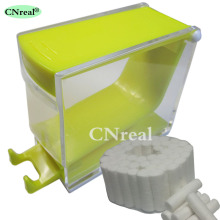 1 pc Dental Cotton Roll Dispenser & 50 pcs Press-type Yellow