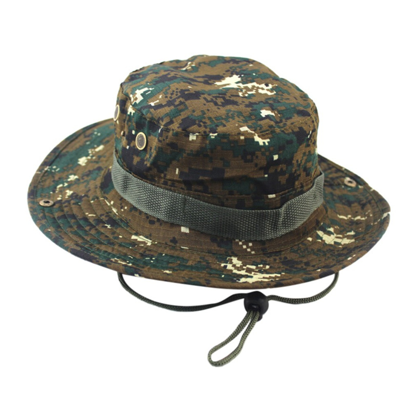 316e47596cf Adjustable Cap Camouflage Boonie Hats Nepalese Cap Army Mens Fisherman Hat  Outdoor Sun Protection Hunting Hat  J21