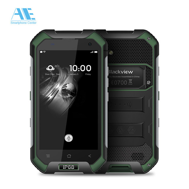 Blackview BV6000 IP68 Waterproof Cellphone MTK6755 Octa Core 3G RAM 32G ROM 4.7 inch Mobile Phone 4G LTE Android 6.0 Smartphone