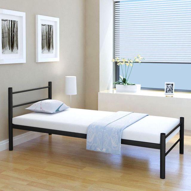 Ikayaa Simple Modern Single Bed Bedroom Furniture Frame Metal Bed For  Bedroom DE FR ES Stock