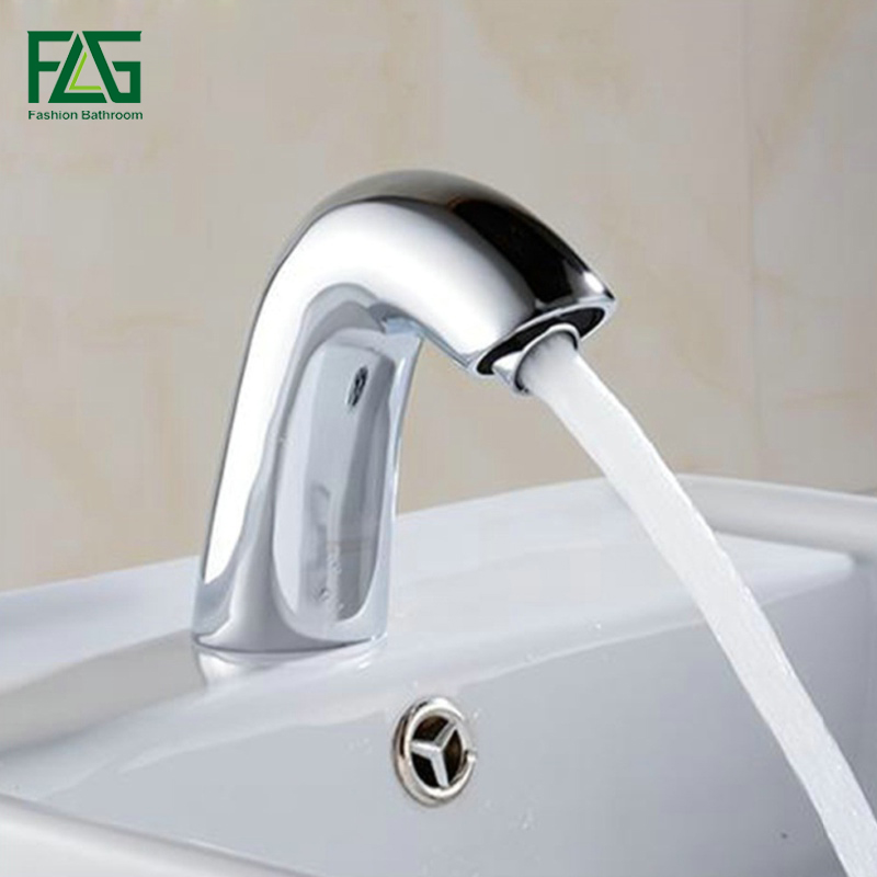 FLG Water Saving Basin Faucets Chrome Brass No Handle Tap Battery Power Sensor Faucet Touch Faucet Single Cold Sink Taps T12FLG Water Saving Basin Faucets Chrome Brass No Handle Tap Battery Power Sensor Faucet Touch Faucet Single Cold Sink Taps T12
