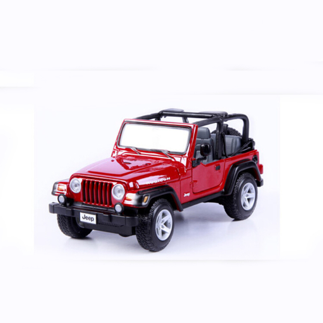 Brand Car Model For Jeep Wrangler 1 27 Alloy Cast Miniature Maisto Off Road Vehicle Collection Gift Toy