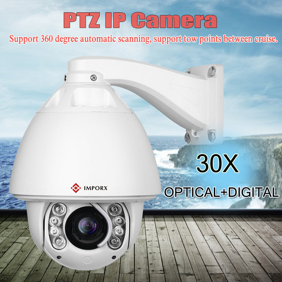 Auto tracking PTZ Speed Dome IP Camera Outdoor 1080P HD 20X 30X Zoom CCTV Security Video Network Camera