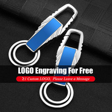 Customized Logo Keychain Custom Lettering Keychains Business Keyrings Metal Engrave Name Simple Personalized Car Women Men Gift