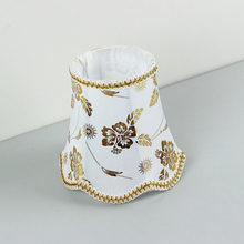 DIA 16CM Special offer Mini table lampshade, Gold color fabric lamp shades covers for wall lamp, E27 hole 4.2cm(China)