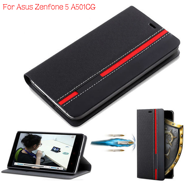 """DIYABEI Wallet Case For Asus Zenfone 5 A501CG 5.0"""" Flip Cover PU Leather Stand Phone Bags Cases for Asus Zenfone 5 A501CG Cover"""