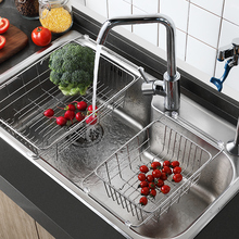 Lechefang Sink Drainage Rack Dishwash Basin 304 Stainless Steel Drainage Basket Kitchen Dish Drainage Basin Shelf цена в Москве и Питере