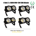 Winsune 4 Unit  2*100W CW/WW LED Blinder COB DMX Control Stage Flood Light For Theatrical Studio