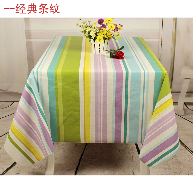 Thickening Waterproof Disposable Fabric Table Cloth Fashion Rustic Dining  Table Tablecloth