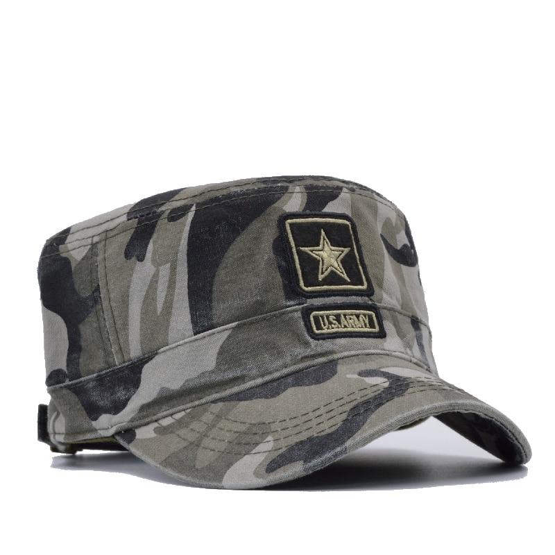 fda83cf1791  NORTHWOOD  2017 New Camo Flat Cap US Army Cap Men Baseball Cap Camouflage  Mens Snapback Bone Tactical Sport Hats For Adult-in Baseball Caps from  Apparel ...