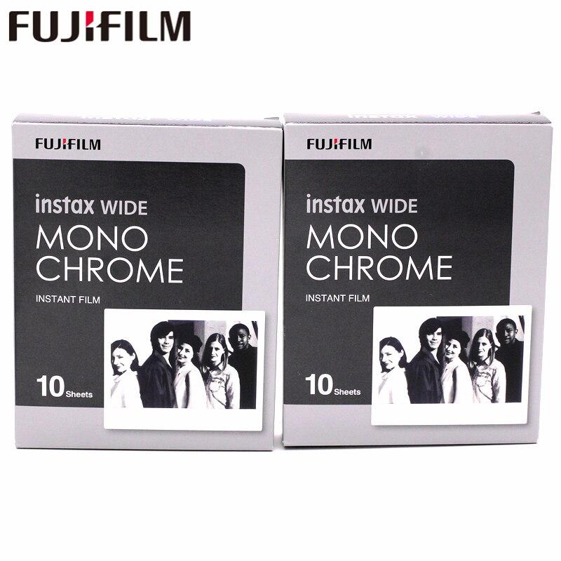 20 feuilles fuji film Instax large Monochrome 20 protecteur de Photo pour fuji Instax 300 200 210 appareil Photo instantané