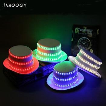2019 New Free shipping High quality flash hat cap stage LED Jazz light magic cap flashing light night dance costume props