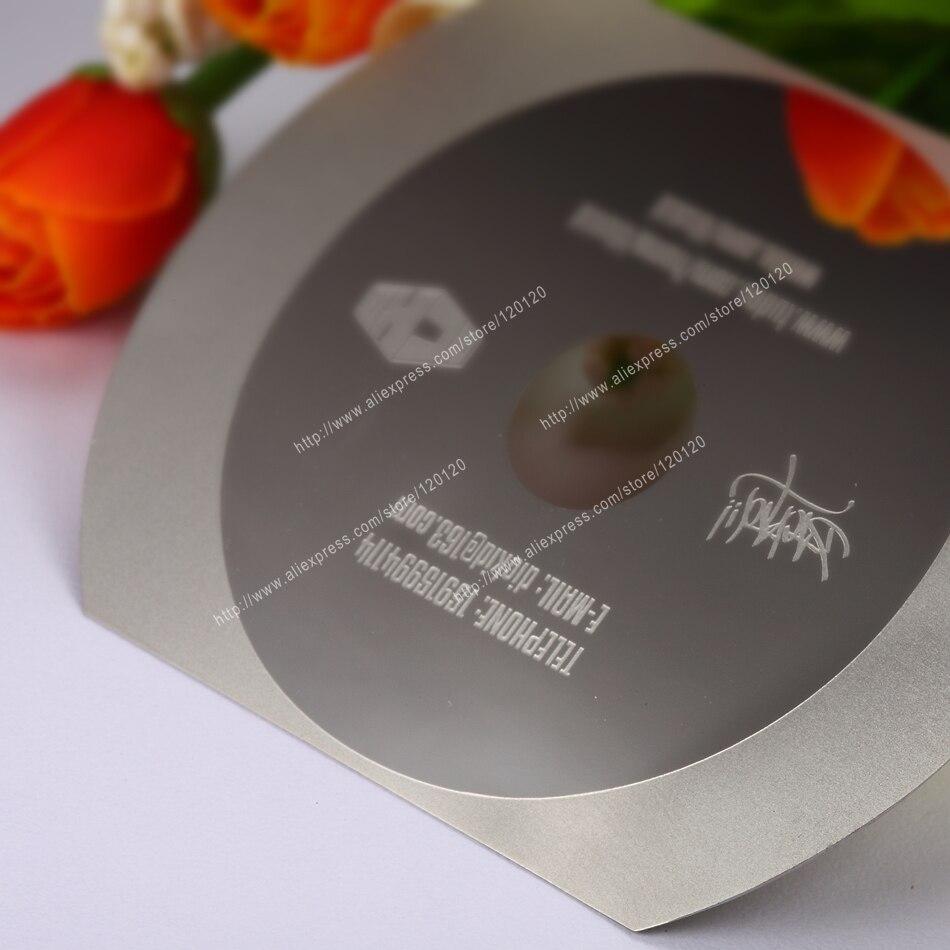 Reloj personalizado láser grabado cataforesis acero inoxidable metal tarjeta de negocio