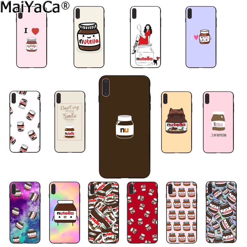 MaiYaCa chocolate Food Tumblr Nutella Soft Rubber black Phone Case for Apple iPhone 8 7 6 6S Plus X XS MAX 5 5S SE XR Cover winnie the pooh iphone case
