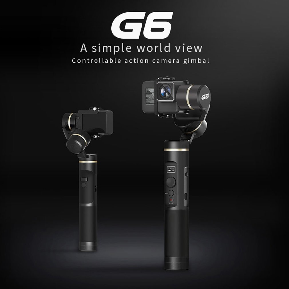 G6 3 оси ручной Gimbal стабилизатор брызг для GoPro HERO/Xiaomi YI 4 К/AEE Камера смартфонов