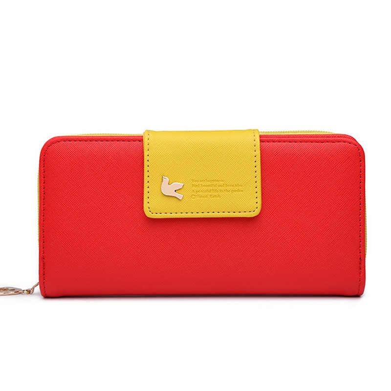 Monederos de marca para mujer, Cartera de cuero, monedero largo, carteras para mujer, cartera con tarjetero, carteras coloridas, bolsos para mujer 2019
