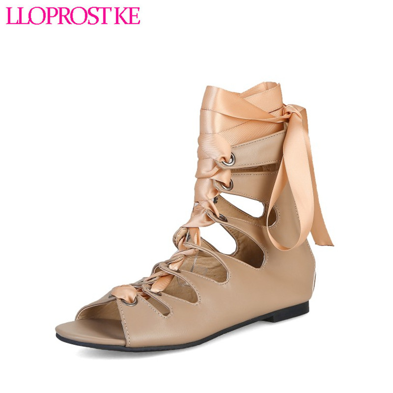 Lloprost Ke Ankle Boots in summer Fashion Comfortable Low heels Shoes Woman Fashion Open-Toed Cool Boots Three Colors YZ007 lloprost ke 2017 summer new style fashion sandals of woman ladies shoes on heels big size 32 45 three color woman sandals lyf015