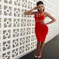 Sexy Club Платья 2016 Новый Прибытие Лето Sexy Red Бинты Strappy Кейдж Платье Оптовая HL AA-443