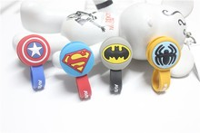 10pcs/lot Batman,Superman Cartoon Headphone Earphone Cable Wire Organizer Cord Holder USB Charger Cable Winder For samsung