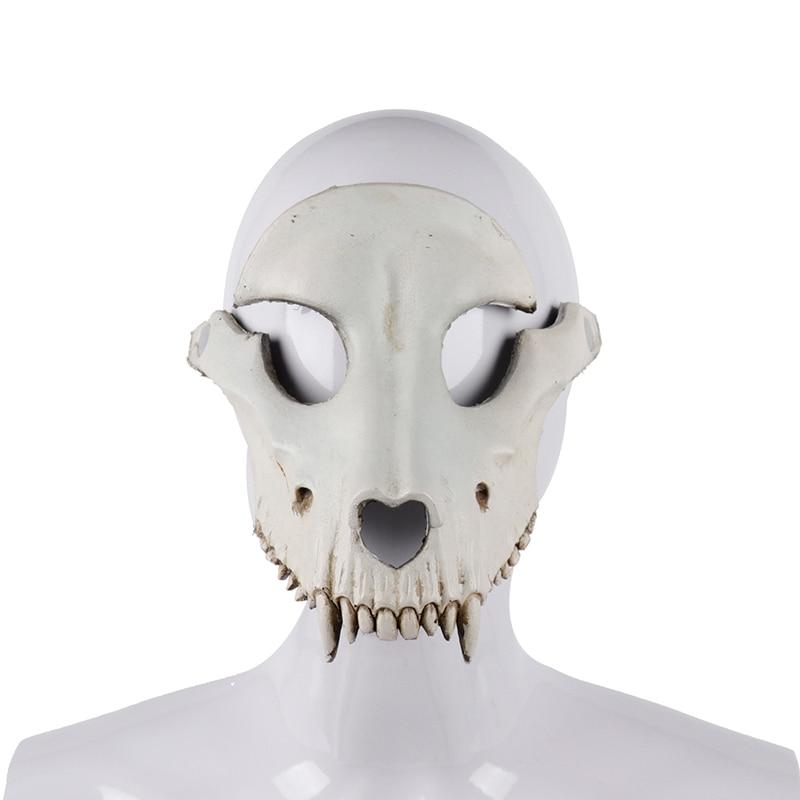 Cospty Tag Der Toten Carnaval Dia De Los Muertos Overlord Halloween Horror Scary Pu Schaum Brennen Mann Death Ritter Schädel Maske Anzüge & Zubehör