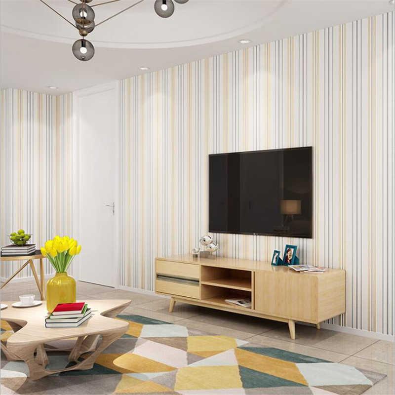 Современный 3D трехмерный минималистичный нетканый обои для гостиной, спальни, Европейский фон с вертикальными полосками