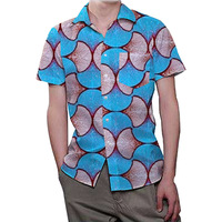 Newest African Print Dashiki Dress Shirt Men 2018 Brand New Slim Fit Tribal Gypsy Ethnic Shirt Male Long Sleeve Africa Clothing