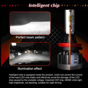Image 4 - CROSSFOX h4 bi led h7 רכב פנס led h11 h9 h8 h1 9005 HB3 9006 HB4 אוטומטי מנורת הנורה שינוי עבור מכוניות 12V 6000K ערפל אורות 2x