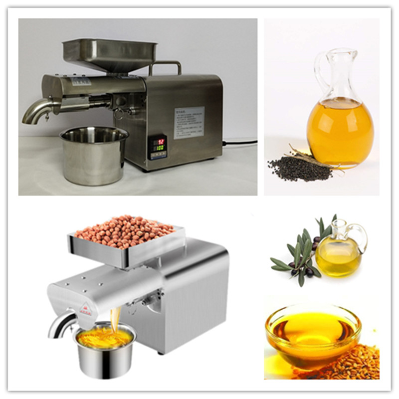 220V/110V heat and cold home oil press machine pinenut cocoa soy bean olive oil press maker high oil extraction rate